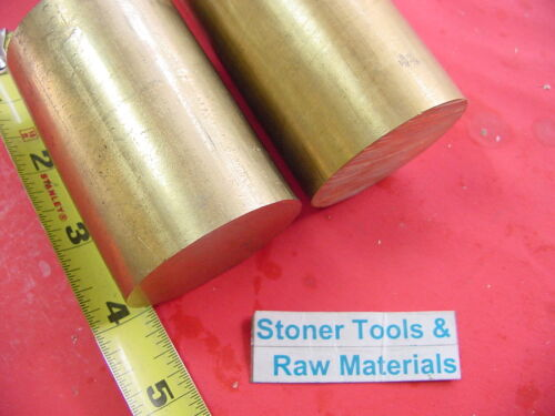 "2 Pieces 1-3//4/"" C360 BRASS ROUND ROD 4/"" long Solid 1.75/"" OD H02 Lathe Bar Stock"
