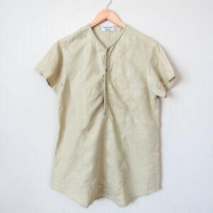 VINTAGE-GIORGIO-ARMANI-Men-039-s-Casual-Lightweight-Linen-Shirt-Size-Flax-Color-M-L