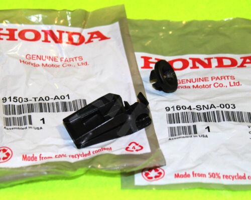 2PC KIT OEM HONDA 08-12 Accord 4CYL Hood Prop Rod Holder Retainer Clip /& Grommet