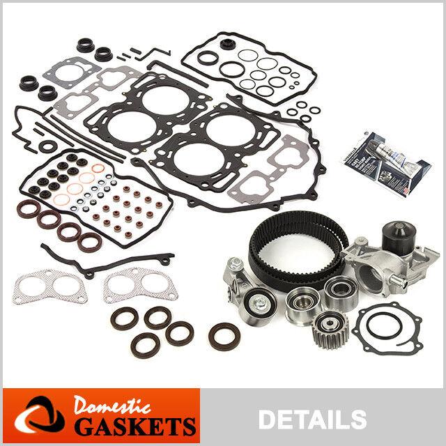 Fit 99-03 Subaru Forester Impreza 2.5 Head Gasket Set,Timing Belt Kit+Water Pump