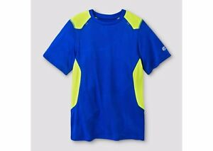 Pick Size Boys C9 Champion Short Sleeve Duo Dry Blue Camouflage  T-Shirt