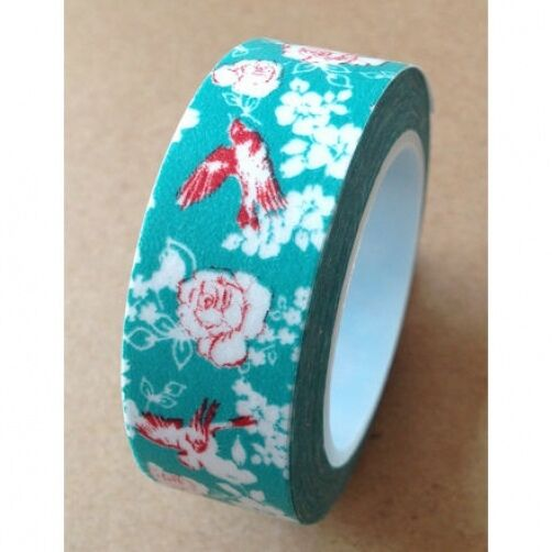 Washi Tape Florals 15mmx10m Roll Decorative Sticky Paper Masking Tape Adhesive