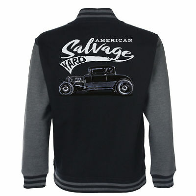 FäHig Hotrod 58 Hot Rod Bergung Garten American Uni Garage Jacke Classic Jahrgang Exquisite Handwerkskunst;