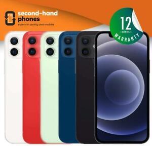 Apple iPhone 12 (latest Model) 64/128/256GB Unlocked Black,White,Red,Green,Blue