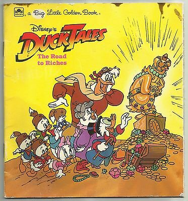 Vintage 1987 Disney's Ducktales The Road To Riches Paperback Little Golden Book