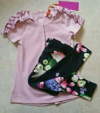 d7779c060 Baker by Ted Baker Girls  lilac top   black floral print leggings set 4-