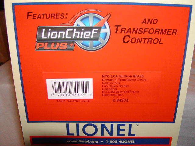 Lionel 6-84934 6-84934 6-84934 New York Central LC Hudson Locomotive & Tender O-31 MIB BT 3ff81b