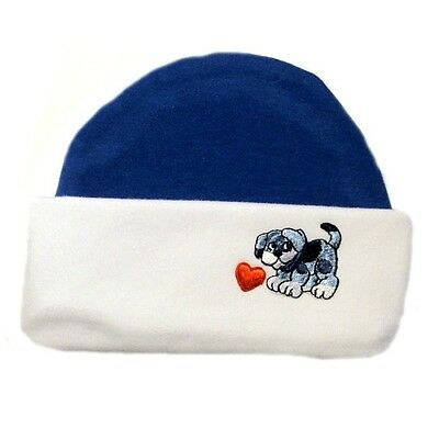 5 Sizes Preemie and Newborn to 6 Months Puppy Friends Knotted Baby Boy Hat