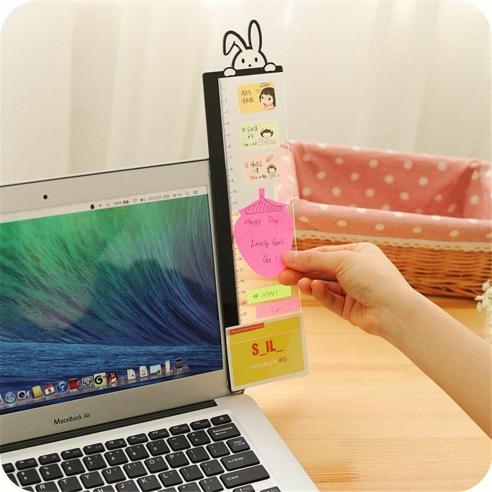 monitor memo note board computer screen card holder  office home FU V!