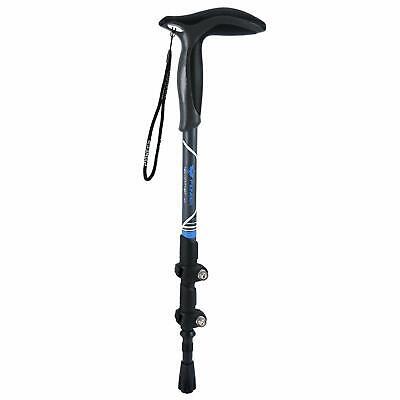 T-handle Carbon Fiber Walking Sticks Outer Lock Cane For Outdoor Trekk Climbing