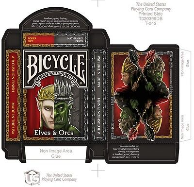 Bicycle Elves & Orcs Playing Cards Deck Brand New Limited