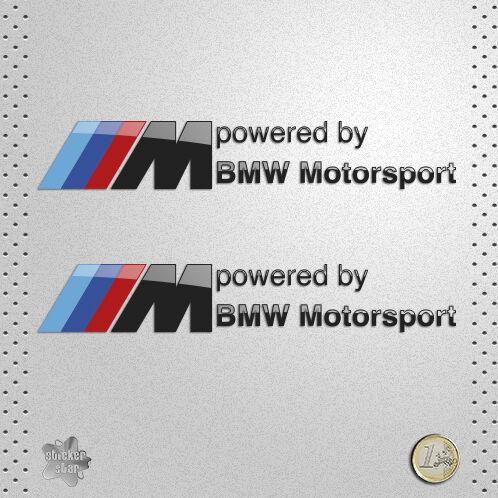 STICKER BMW POWERED BY MOTORSPORT PEGATINA ETICHETTA DECAL AUTOCOLLANT AUFKLEBER
