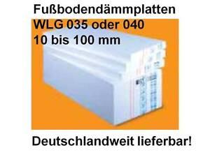 Styropor Estrichdammung Fussboden Estrich Warmedammung Eps 035 100mm 150kpa Ebay