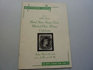 Vintage Stamp Auction Catalog From Sylvester Colby March 1950 Ebay