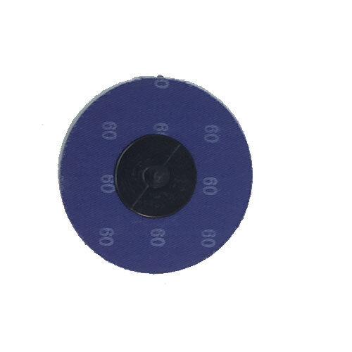"""50-3/"""" Roloc Zirconia Quick Change Sanding Disc 60 Grit and Mandrel"""