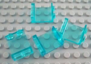 LEGO Lot of 6 Light Bluish Gray 1x2x2 Wall Creator Panel Pieces