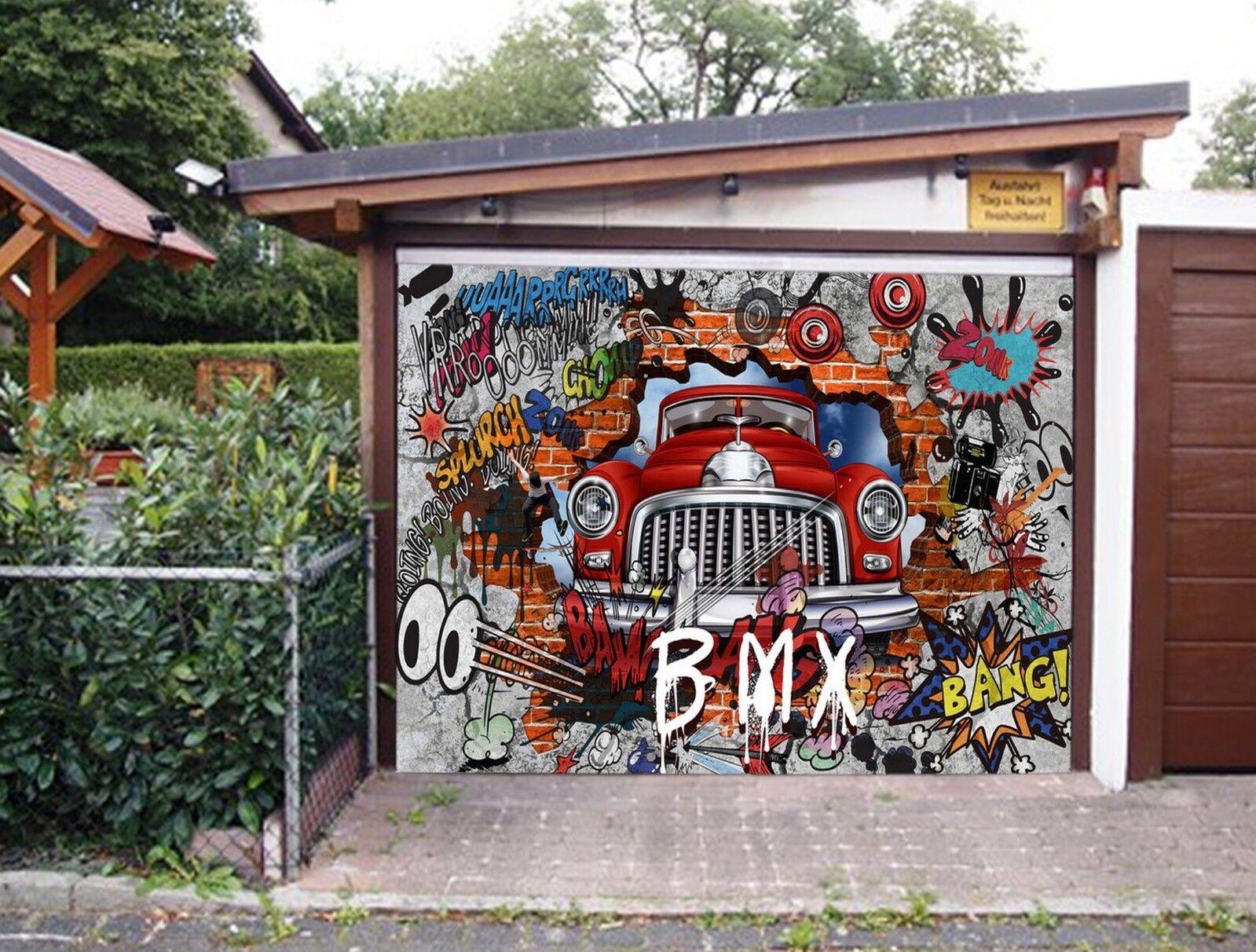 3D Graffiti 888 Garage Door Murals Wall Print Decal Wall AJ WALLPAPER AU Carly