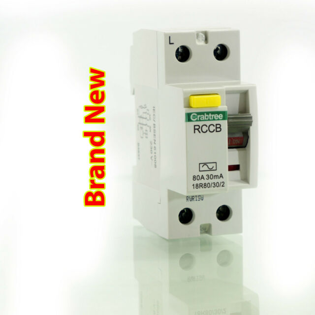 Crabtree 80A 30mA  2 Pole RCD 18R80/30/2 230V *Free Delivery*
