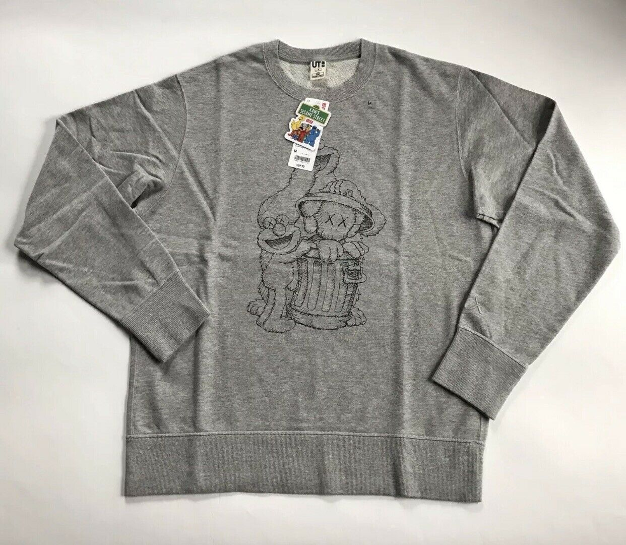 NEW Uniqlo Kaws X Sesame Street Men Sweater - Medium