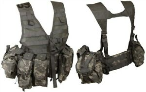 MODULAR-LIGHTWEIGHT-MOLLE-II-ACU-FLC-ADJUSTABLE-FIGHTING-LOAD-CARRIER-W-POUCHES