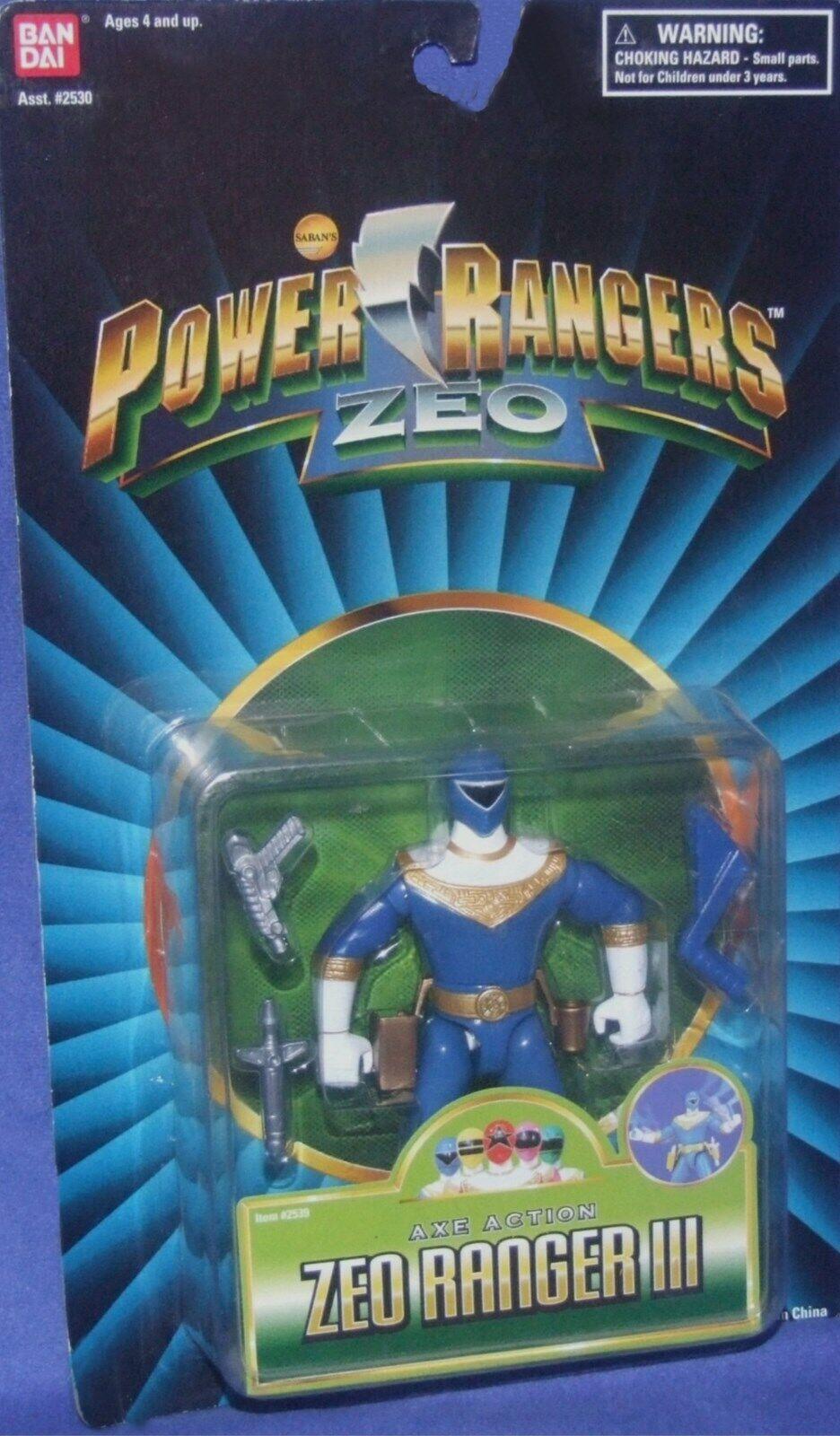 Energia Rangers ZEO 5  blu Zeo Ranger lll nuovo  Factory Sealed 1996 W Axe azione  qualità ufficiale