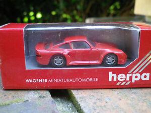 HERPA-HO-1-87-PORSCHE-959-rouge-ref-2501-neuf-en-boite