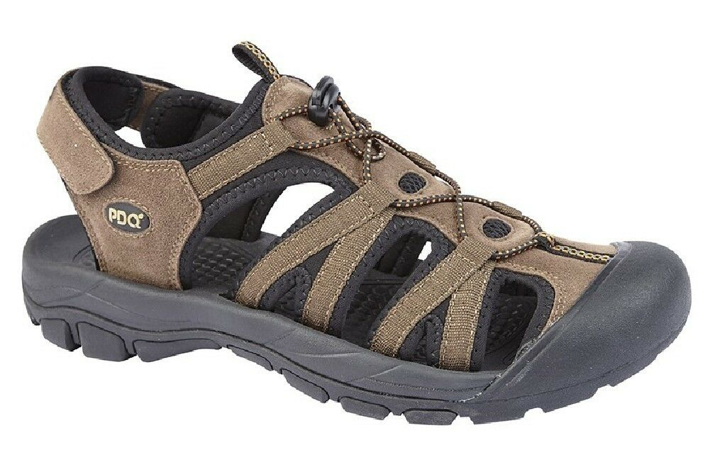 PDQ Trek Alex Toggle/Touch Fastening Casual Trek PDQ Sports Summer Sandals Brown 3f716c