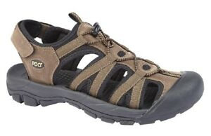 PDQ Alex Toggle/Touch Fastening Casual Trek Sports Summer Sandals Brown