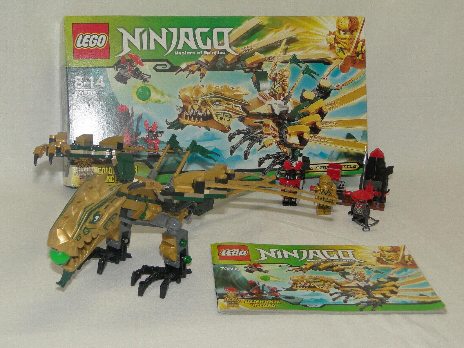 Lego Ninjago 70503 dorada con dragón completo con instrucciones oba + embalaje original