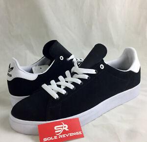 d8e336a0172c49 NEW adidas Originals STAN SMITH VULC SHOES BB8743 Black White Skate ...