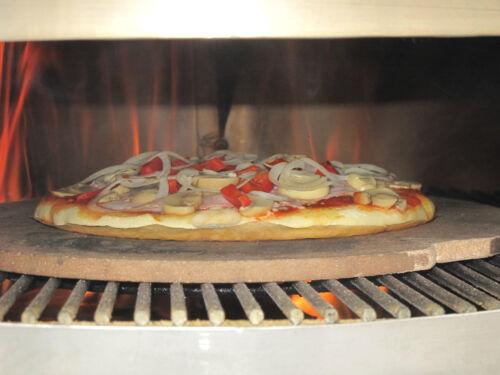 Pizzaring Aufsatz für Kugelgrills Rotisserie Drehspieß u 47cm u. 57cm Weber