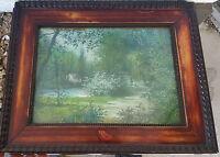 Alexandre PREVOST Tableau PASTEL sur Papier 1911 Signe L'ETANG Dessin Original