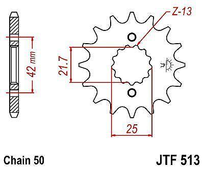 94-95 4JH JT Front Sprocket JTF513 15 Teeth fits Yamaha FZR600 RF YZF600