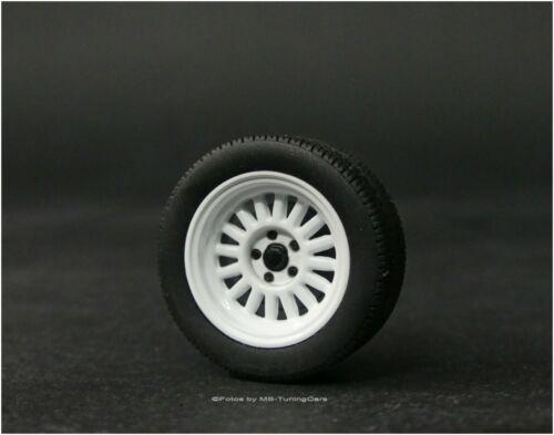 el breve juego de ruedas raramente = rar 1//18 tuning audi Sport Quattro 1985 llantas conjunto