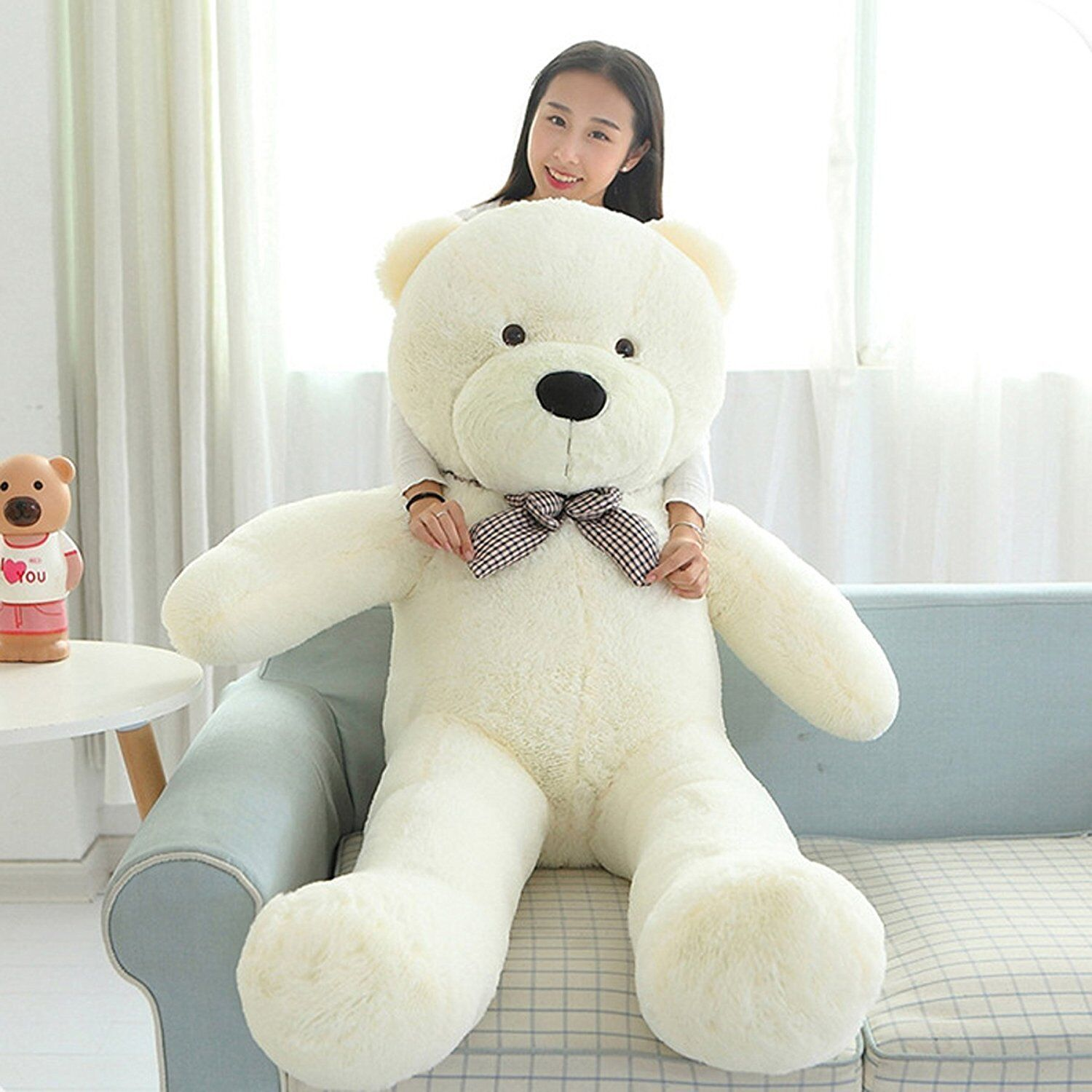 47/'/' Giant White Teddy Bear Big Stuffed Animal Huge Kid LARGE Soft Plush Toy New