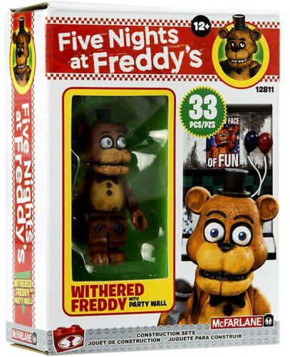 Withered Freddy Five Nights at Freddy/'s The Party Wall Micro Construction Set