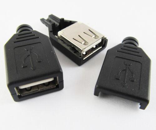 10 Ensembles couvercle en plastique un type USB 2.0 USB 4Pin Femelle Jack Socket Connecteur