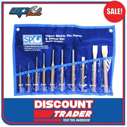 SP Tools 10 Piece Pin Punch & Chisel Set SP30841
