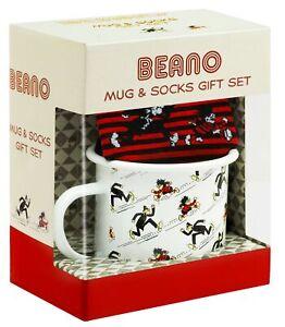 Beano-Enamel-Mug-and-Socks-Dennis-the-Menace-Sergeant-Christmas-Birthday-Gift