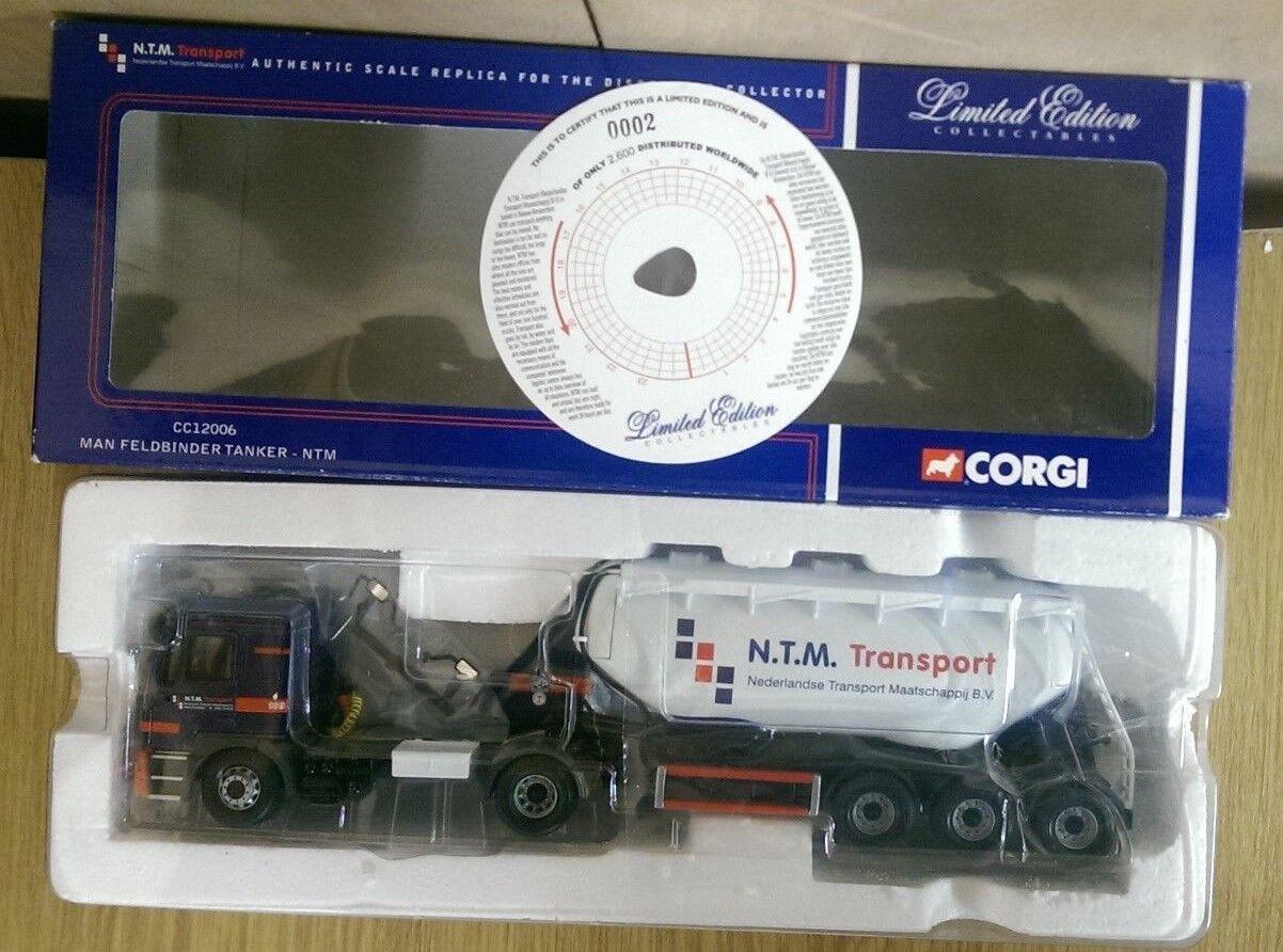 Corgi CC12006 Man feldbinder petrolero NTM transporte Ltd. Ed. 0002 de 2600
