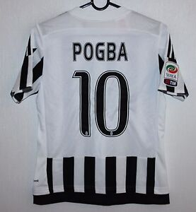 premium selection 79a53 dd9fb Details about Juventus Italy home shirt 15/16 #10 Pogba Adidas BNWT KIDS  Size - M