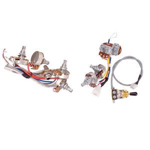 3 way toggle switch 2t2v 500k pots for epiphone electric guitar parts ebay. Black Bedroom Furniture Sets. Home Design Ideas