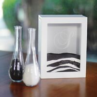 Cathy's Concepts Unity Sand Ceremony Shadow Box Set White PS3917W Home Furnishings