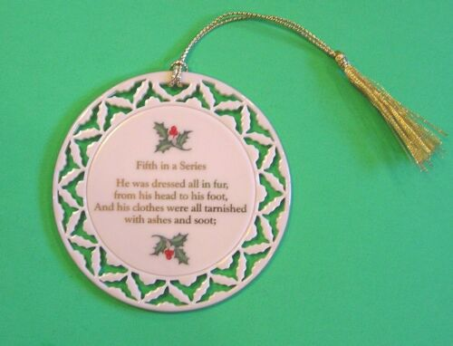 LENOX TWAS THE NIGHT BEFORE CHRISTMAS ORNAMENT Fifth in a Series Santa No Box