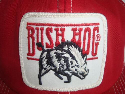 Vintage Bush Hog Snapback Cap Red