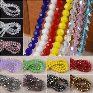 100pcs 6mm Round Crystal Glass Loose Spacer Beads lot Plated Colors Bluish Rose