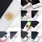 1x Cute 3D Crystal Bling Home Button Sticker For iPhone Touch ID 63 Styles