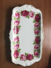 ROYAL ALBERT OLD ENGLISH ROSE SANDWHICH TRAY