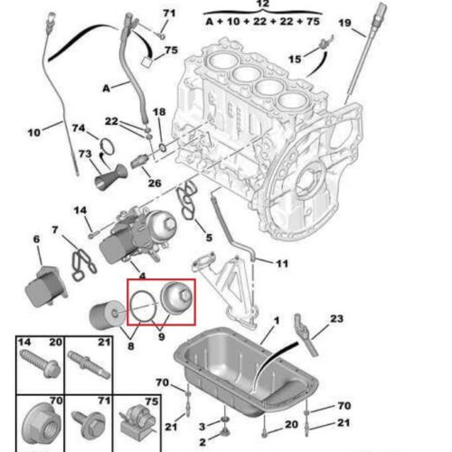 Engines & Engine Parts Oil Sumps C3 COVER OIL FILTER CITRON C2 ...
