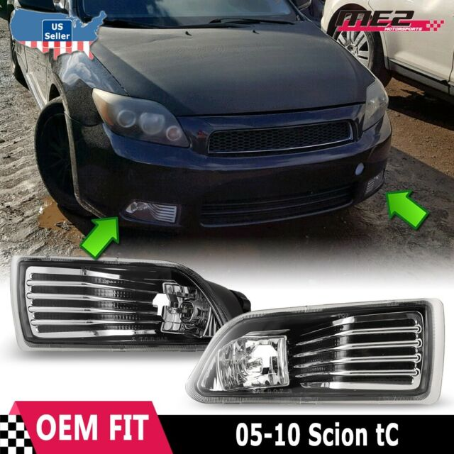 Clear Lens Grill /& Fog Light Bumper Lamps W//Wiring Kit For 2005-2010 Scion TC